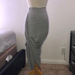 Side slit mini skirt